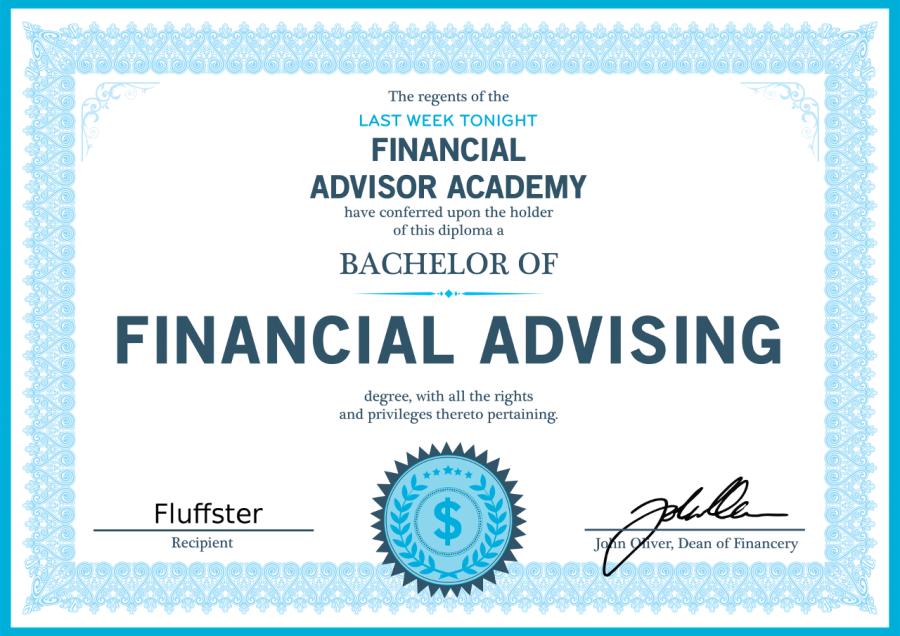 Fluffster Finance Certificate